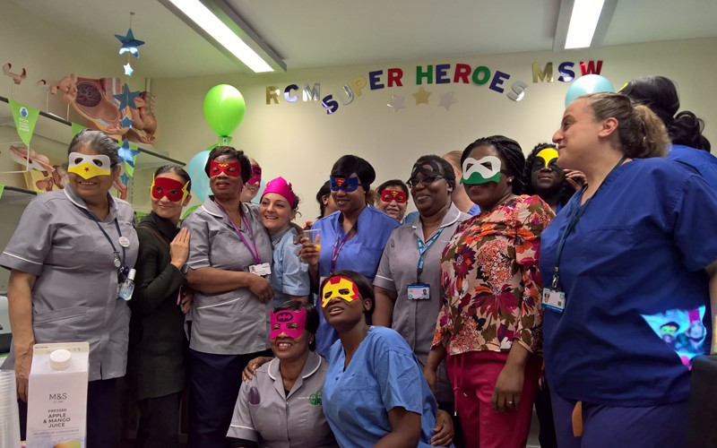 "Croydon RCM Branch Celebrates ""Superhero"" Support Workers in Maternity"