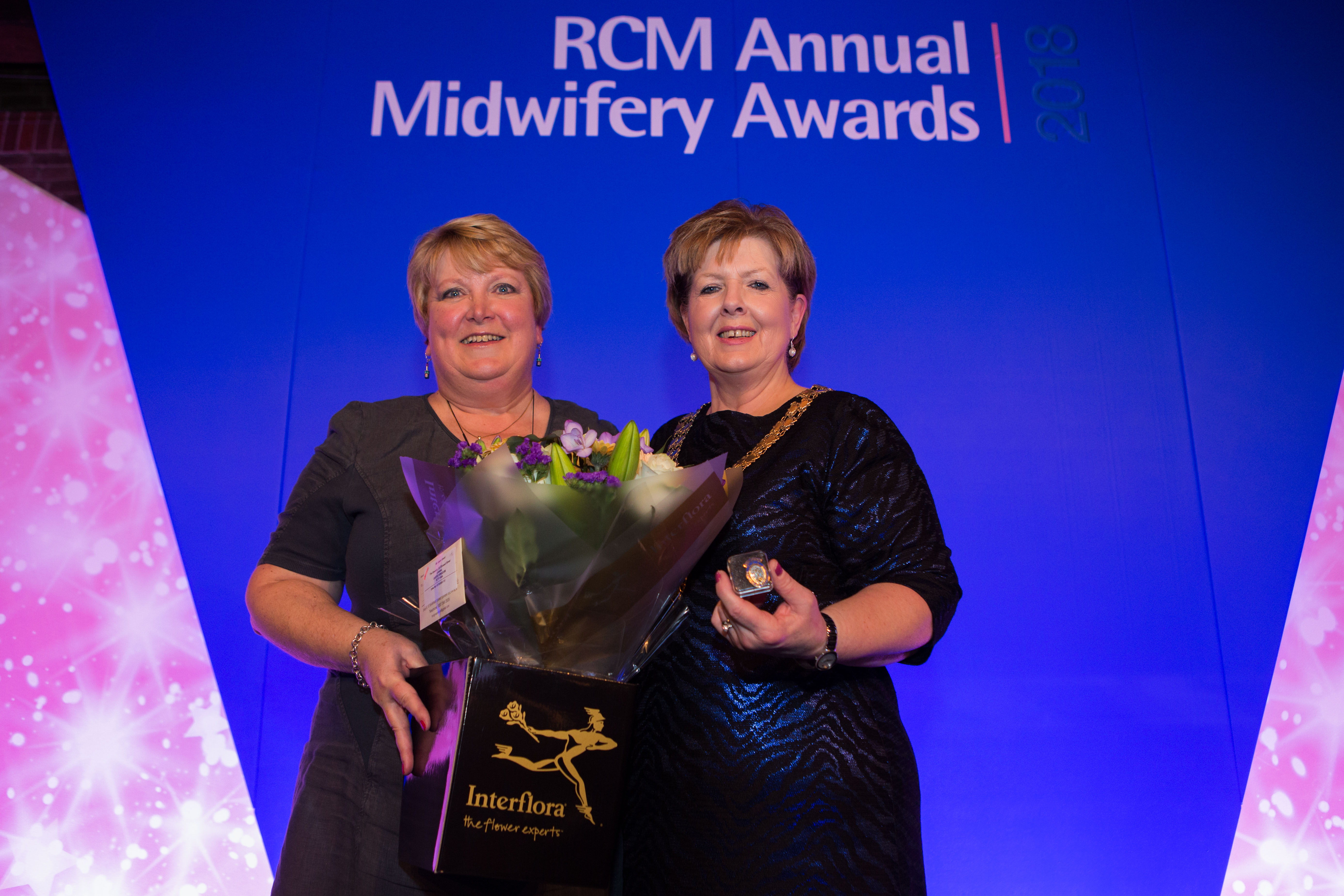 Honorary Fellow Gail Johnson with RCM President Kathryn Gutteridge