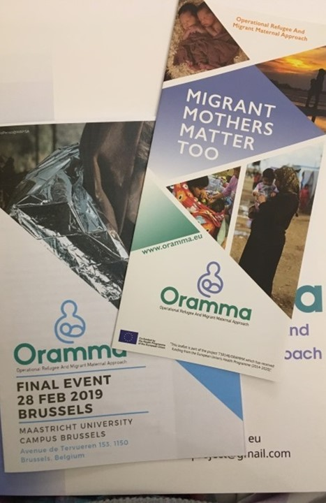 Oramma event leaflets