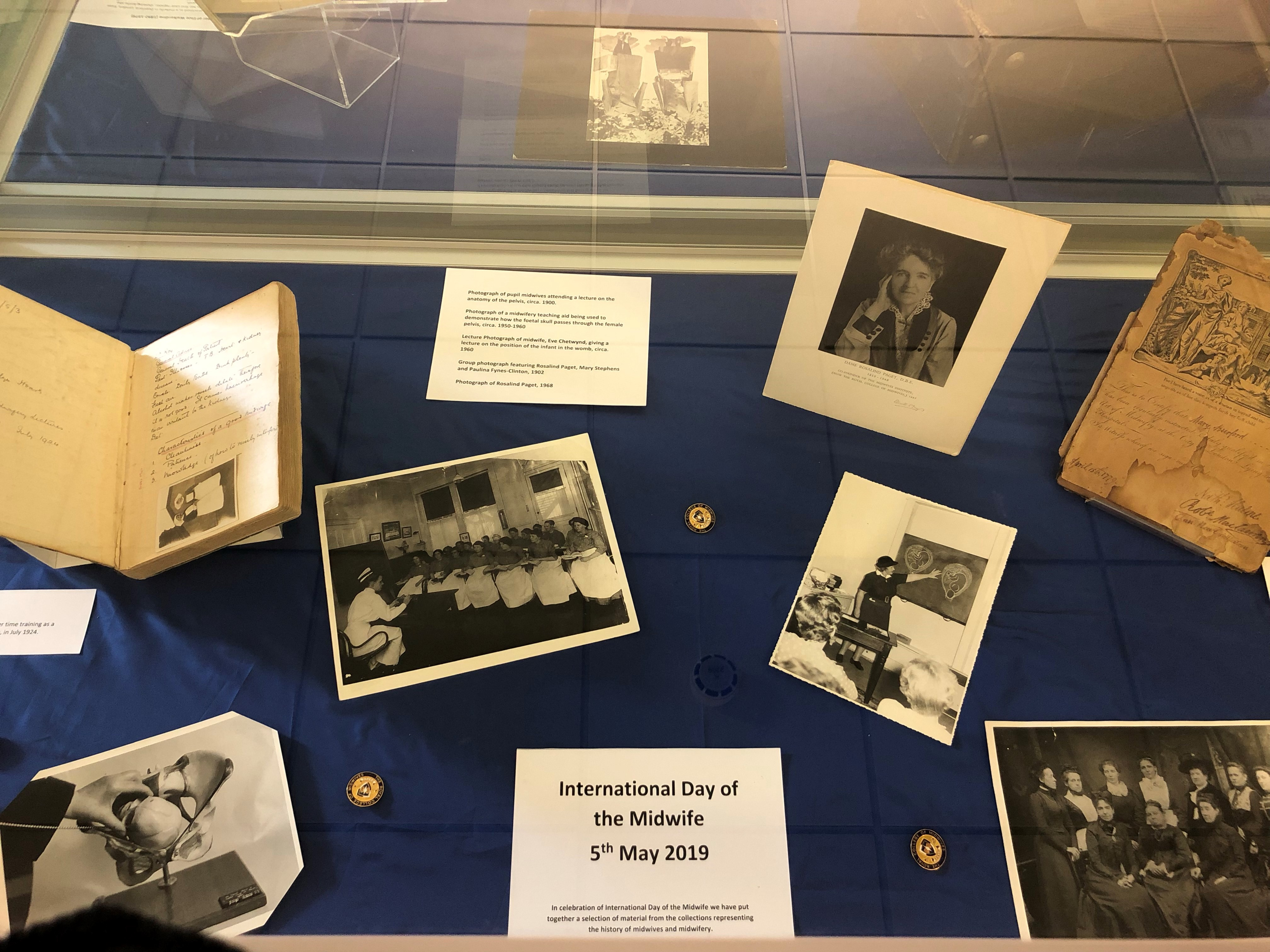 Items from the current library display: International Day of the Midwife, 5th May 2019