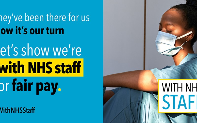 Show support for NHS pay rise with posters in windows, say health unions
